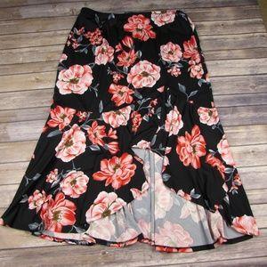 Antthony Originals Floral Maxi Skirt Asymmetrical